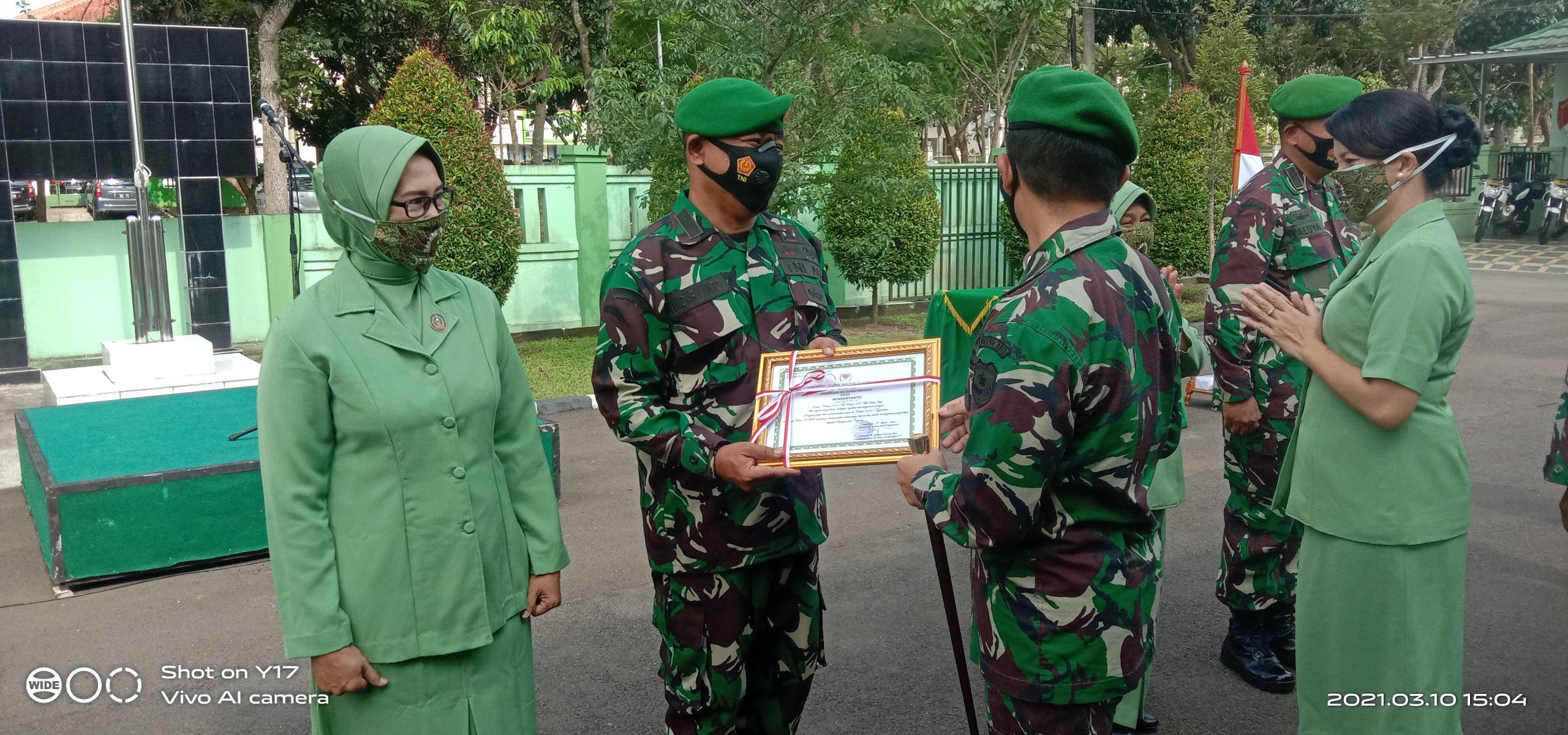 Letkol Inf.Bangun Siregar Pimpin Upacara Pelepasan 2 Perwira Kodim 0510 Tigaraksa2