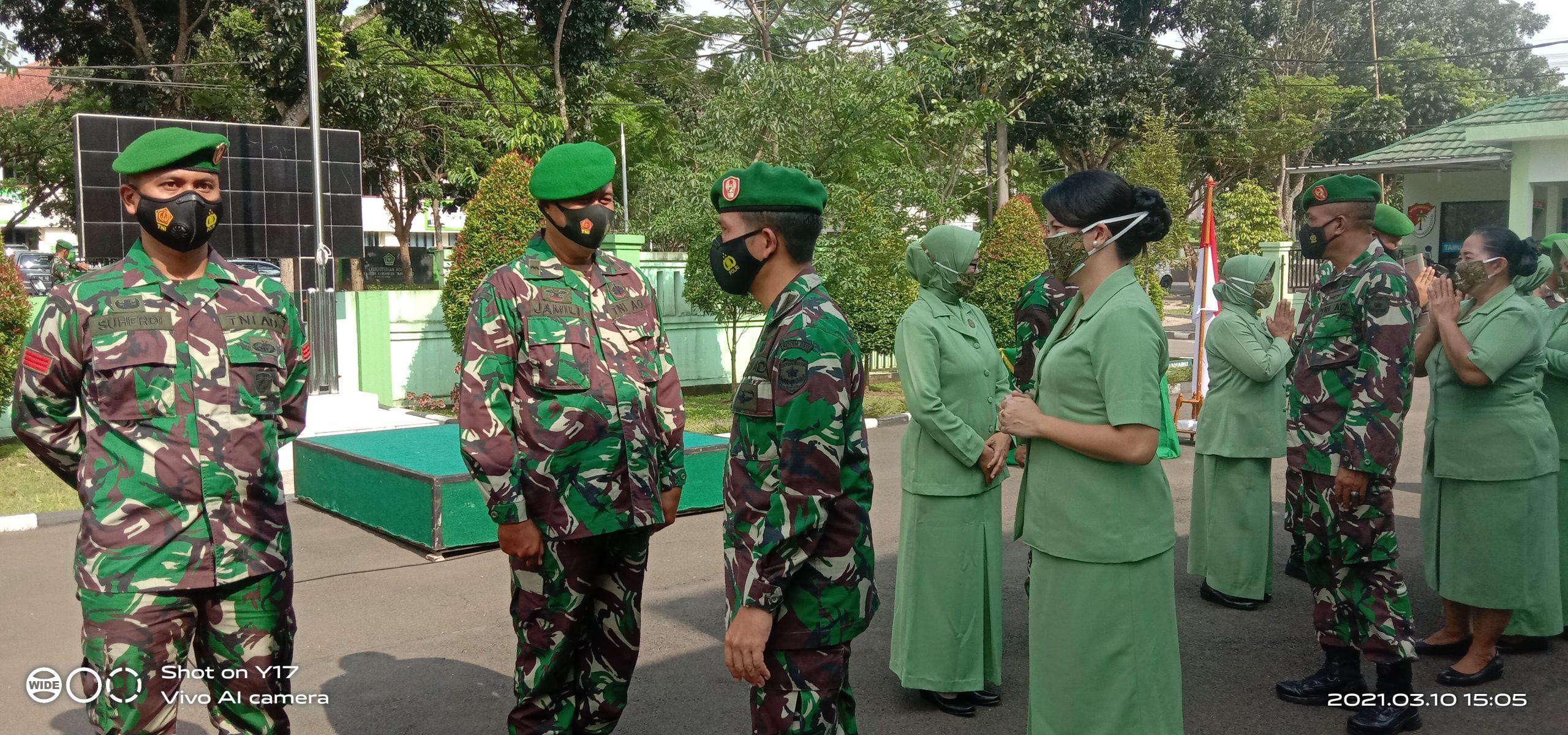 Letkol Inf.Bangun Siregar Pimpin Upacara Pelepasan 2 Perwira Kodim 0510 Tigaraksa1